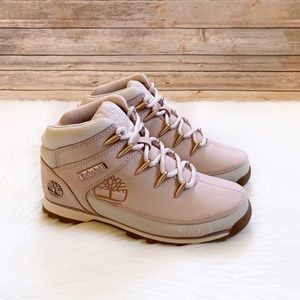 Timberland Euro Sprint Mid Hiker In Light Pink